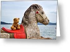 On White Horses Snow White Horses Let Me Ride Away Greeting Card