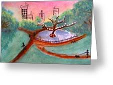 Once Around The Park Greeting Card