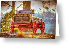 Wagon - Rustic - Once Upon A Time Before Pickups Greeting Card