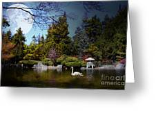 Once Upon A Time Under The Moon Lit Night . 7d12782 Greeting Card