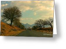 Oncoming Truck Greeting Card