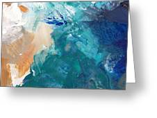 On A Summer Breeze- Contemporary Abstract Art Greeting Card by Linda Woods