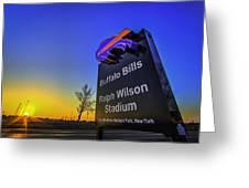 One Bills Drive Greeting Card