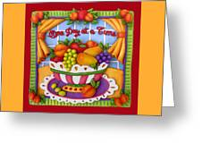 One Day At A Time Greeting Card by Amy Vangsgard