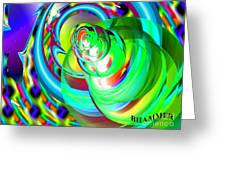 One Drop Greeting Card by Bobby Hammerstone