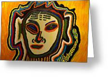 One Eyed Mystery Women Greeting Card