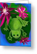 One Frogs Dinner Greeting Card