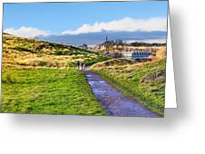 One Golden Day In Edinburgh's Holyrood Park Greeting Card