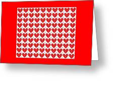 One Hundred Hearts Greeting Card