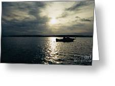One Lonely Fisherman Greeting Card