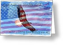 One Nation... Greeting Card
