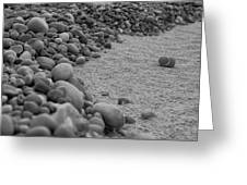 One Pebble Many Pebbles Greeting Card