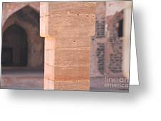 One Pillar  Greeting Card