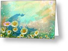 One Pink Daisy Greeting Card by Bedros Awak