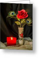 One Red Christmas Rose Greeting Card