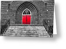 One Red Door Greeting Card