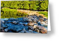 One River - Three Flows Greeting Card