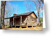 One Room Pioneer Log Cabin  Greeting Card