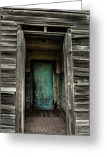 One Room Schoolhouse Door - Damascus - Pennsylvania Greeting Card