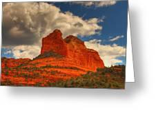 One Sedona Sunset Greeting Card
