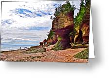 One Side Of Flowerpots At Hopewell Rocks-new Brunswick  Greeting Card