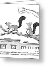 One Squirrel To Another Greeting Card