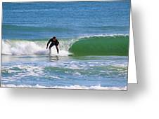 One Surfer Greeting Card