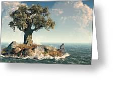 One Tree Island Greeting Card