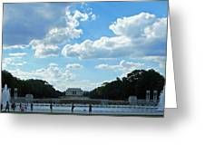 One View Two Memorials Greeting Card