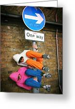 One Way Greeting Card by Stephen Norris
