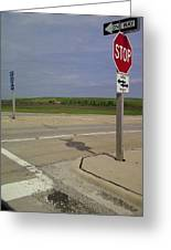 One Way Stop Greeting Card