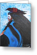 One With Raven Greeting Card