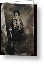 Only Authenticated Photo Of Billy The Kid Ft. Sumner New Mexico C.1879-2013 Greeting Card