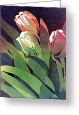 Only Three Tulips Greeting Card