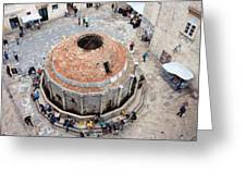 Onofrio Fountain In Dubrovnik Greeting Card
