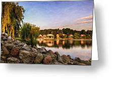 Onondaga Park Hiawatha Lake Greeting Card