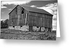 Ontario Barn Monochrome Greeting Card