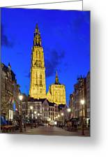 Onze-lieve-vrouwekathedraal Cathedral Greeting Card
