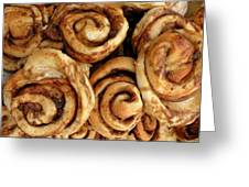 Ooey Gooey Cinnamon Buns Greeting Card