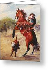 Oops          Buckaroo Western Oil Painting Greeting Card
