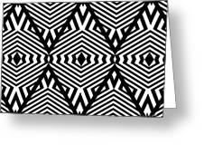 Op Art Black White Pattern Print No.336. Greeting Card by Drinka Mercep