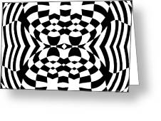 Op Art Geometric Pattern Black White Print No.230. Greeting Card