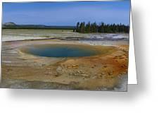 Opal Pool Panorama Yellowstone Greeting Card