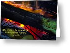 Open Air Fires Greeting Card