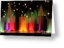 Open Air Theatre Rainbow Fountain Greeting Card