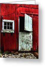 Open Barn Door Greeting Card