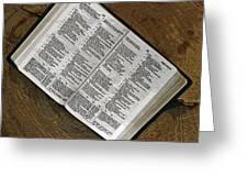 Open Bible Greeting Card
