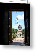 Open Church Door - Macon Greeting Card