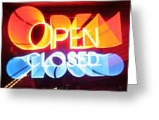 Open Closed Greeting Card