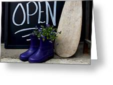 Open For Business Greeting Card